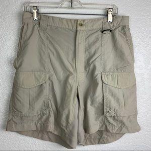 Columbia mens Size M Nylon Cargo Shorts